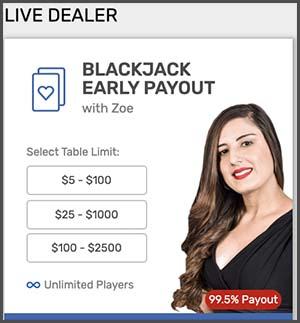 Bovada Live Dealer Games